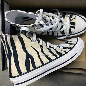 NIB converse zebra print hi top sneaker size 7